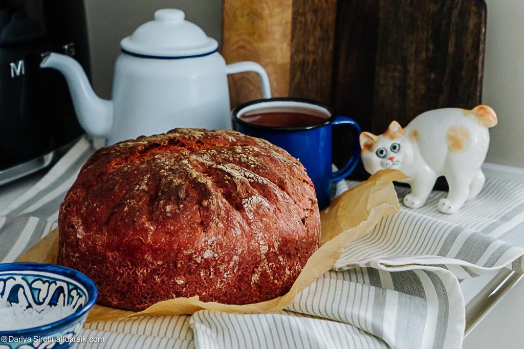 Как в Швейцарии: свекольный хлеб с грецкими орехами