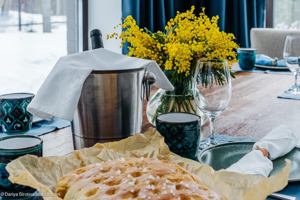 Домашний весенний обед